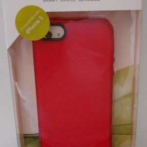 iPhone 5 PHONE Case PureGear Soft Shell Red